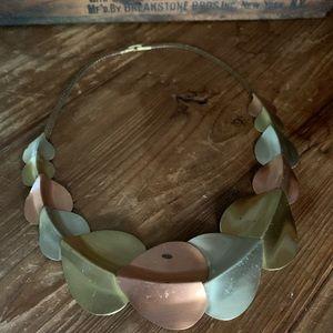 Vintage estate mixed metal necklace